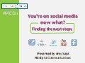 Amy Sept - You're On Social Media ... Now What?: Finding the Next Steps