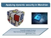 Mondrian applying  dynamic security - Pentaho