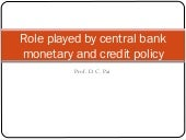 Monetary & credit policy