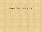 Monetary policies