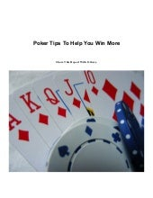 Money Making Poker Tips