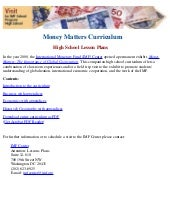 Money matter curriculum