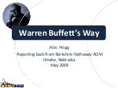 Warren Buffett's Way