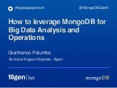 How to leverage MongoDB for Big Data Analysis and Operations with MongoDB's Aggregation Framework and Map Reduce
