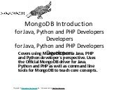 Mongo DB for Java, Python and PHP D...