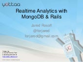 Realtime Analytics with MongoDB - M...