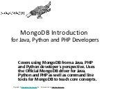MongoDB quickstart for Java, PHP, a...