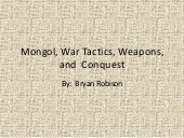 Mongol, war tactics, weapons, and