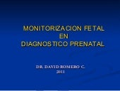 Monitorizacion fetal en el diagnost...