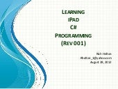 Learning C# iPad Programming