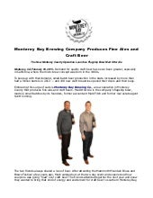 Monterey bay brewing company produces fine ales and craft beer