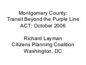 Montgomery County And Transit (revi...