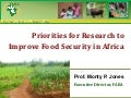Monty Jones Africa Australia consultationPriorities for Research to Improve Food Security in Africa