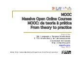 MOOC: From Theory to Practice