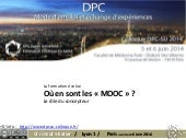 Mooc colloque dpc su 2014