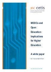 Moocs and Open Education