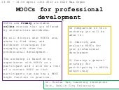 MOOCs for Professional Development