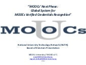 MOOCs' Next Phase: Global System fo...