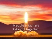 Moodle and Mahara take off together