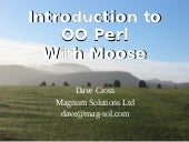 Introduction to OO Perl with Moose