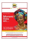 One Year After...Moremi Lives on