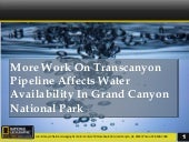More Work on Transcanyon Pipeline Affects Water Availability in Grand Canyon National Park