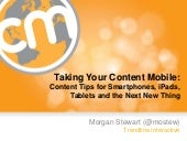 """Taking Your Content Mobile: Conten..."