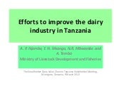Efforts to improve the dairy indust...