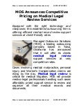 Mos announces competitive_pricing_on_medical_legal_review_services