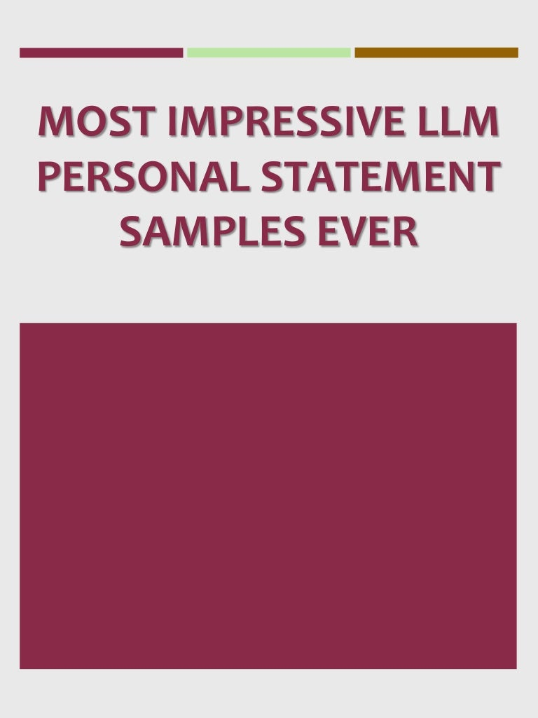Personal statement for llm