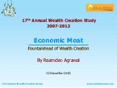 Motilal oswal 17th wealth creation study presentation   economic moat - dec 2012
