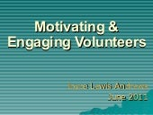 Motivating & Engaging Volunteers