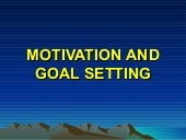 Motivation and goal setting   mens ...