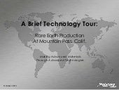 Mountain Pass Rare Earth Technology...