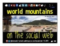 World Mountains on the Social Web