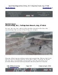Mount polley tailings dam failure, BC, Canada, Aug. 4th 2014