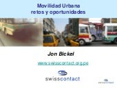 Movilidad urbana: retos y oportunid...
