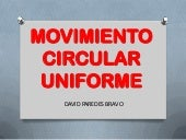 Movimiento circular uniforme (David...