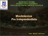 Movimiento pre independentista