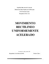 Movimiento Rectilineo Uniformemente...