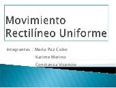 Movimiento rectilíneo uniforme (2)