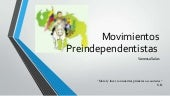 Movimientos preindependentistas