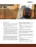 HCLT Brochure: Mobile Data Terminal - Maintenance of Way (MOW)