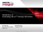 Higher Ed 2.0: Don Tapscott & USC