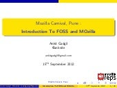 Introduction to Foss and Mozilla