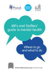 MP and Staffers Guide to Mental Health