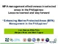 Science Forum Day 1 - Len Garces - Management Effectiveness of Marine Protected Areas in the Philippines
