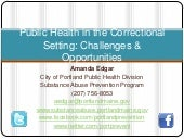 Public Health in the Correctional S...