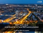 MQTT with Java - a protocol for IoT and M2M communication
