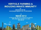 Vertical farming & Inducing innate immunity